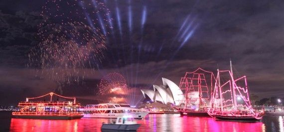 harbour of lights parade sydney 2015